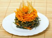Appetizing Of Carrot And Laminaria