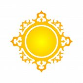 Sun Vector Isolated Summer Icon Design. Vector Yellow Sun Symbol. Vector Sun Sun Element. Sun Weathe poster