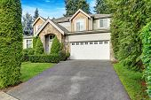 Beautiful Curb Appeal Of Craftsman-inspired Exterior poster