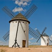 Medieval Windmills On A Hill