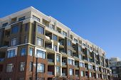 image of tilt  - Tall apartment building in Calgary - JPG