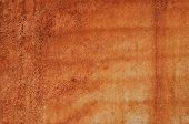 Brown Grunge Rust Stain Texture On Iron Wall poster
