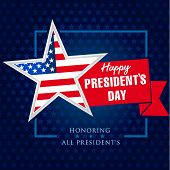 Presidents Day Star And Ribbon Banner Template. Happy President`s Day 19 February For Web Banner. Ve poster