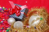 Gift Box And Xmas Decoration