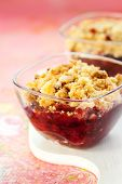 Delicious apple and blackberry crumble