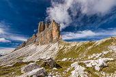 Tre Cime (three Peaks) Di Lavaredo (drei Zinnen) , Are Three Of The Most Famous Peaks Of The Dolomit poster
