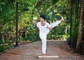 Yoga One Leg Balancing Pose