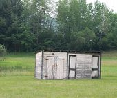 stock photo of outhouses  - An aging old shed - JPG