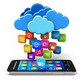 Concepto de Cloud computing y movilidad