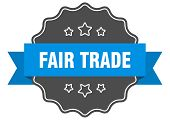 Fair Trade Blue Label. Fair Trade Isolated Seal. Fair Trade poster