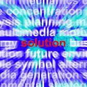 Solução Word mostrando a estratégia e a conquista do sucesso