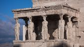 The Porch Of The Caryatids In The Erechtheion An Ancient Greek Temple On The North Side Of The Acrop poster