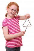 Mädchen mit Dreieck