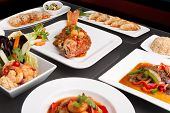 Assorted Spicy Thai Foods poster