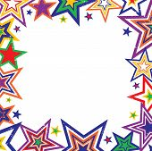 Rainbow Stars Border Vector