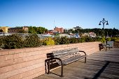 Downtown District Marquette Michigan. Panorama Of Downtown Marquette. Marquette Is The Largest City  poster