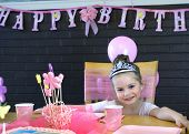 Beaming Birthday Girl