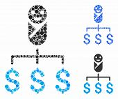 Kid Expenses Mosaic For Kid Expenses Icon Of Filled Circles In Different Sizes And Color Hues. Vecto poster