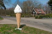 Ice Cream Cone Statue