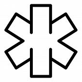 Emergency Icon. Outline Emergency Vector Icon For Web Design Isolated On White Background poster