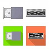 Vector Design Of Accessories And Device Icon. Set Of Accessories And Electronics Stock Symbol For We poster