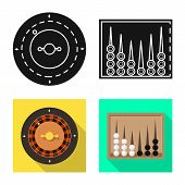 Vector Design Of Entertainment And Competition Symbol. Set Of Entertainment And Rivalry Vector Icon  poster
