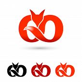 Illustration Of Creative Fox Logo Symbol. Modern Icon For Logos And Emblem. Creative Fox Infinity Mo poster