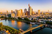Frankfurt Am Main. Cityscape Image Of Frankfurt Am Main During Sunset. poster