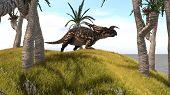 einiosaurus in jungle