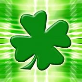 Shamrock On Glowing Background