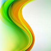 Abstract colorful waves background.