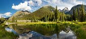 stock photo of wilder  - Colorado Mountain Lake Panorama in the Rocky Mountains - JPG