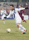 CLUJ-NAPOCA, ROMANIA - FEBRUARY 21: Antonio Cassano in UEFA Europa League match, CFR 1907 Cluj vs UInter Milan, on 21 February, 2013 in Cluj-Napoca, Romania