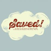 foto of salvation  - Graphic t shirt design with inspirational message - JPG