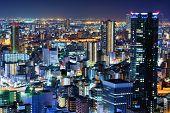 Hochmoderne Stadtansicht von Osaka, Japan die zweitgrößte Stadt des Landes.