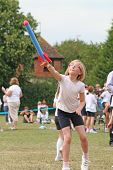 Child Taking Part In School Sports Day