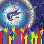 Fundo de concerto de rock
