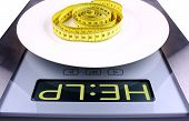 Weight Concept. Digital Scale With Help Ad.