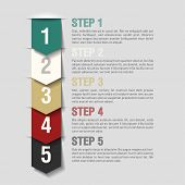 foto of arrow  - Arrows steps design template - JPG