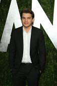 WEST HOLLYWOOD, CA - FEB 24: Emile Hirsch at the Vanity Fair Oscar Party at Sunset Tower on February