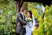 Bride And Groom Outdoor