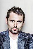 PARIS, FRANCE - JULY 04, 2012: Portrait of the english rock group Muse lead vocalist Matthew Bellamy