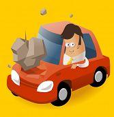 Having Car insurance. Vector illustration