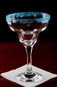Blue Salt Rim Margarita Glass