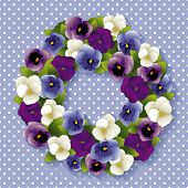 Pansy Wreath