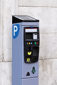 Parkplatz-Pay-station