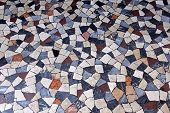 picture of terrazzo  - Terrazzo marble mosaic tiles from medieval Rome - JPG