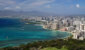 image of waikiki  - View of Waikiki from Diamond Head  - JPG