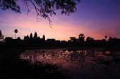 The dawn at Angkor Wat