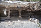 Card Of The Ancient Cave City Of Eski-kermen